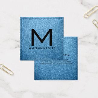 Couro Aero moderno elegante do monograma Cartão De Visitas Quadrado