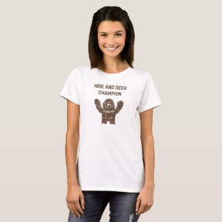 Couro cru de Bigfoot Sasquatch - e - procure o Camiseta