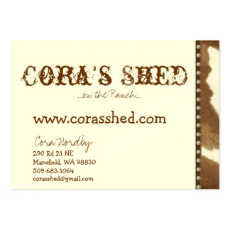 couro cru e unhas, a vertente de Cora,… no rancho Cartão De Visita Grande