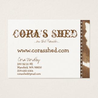 couro cru e unhas, a vertente de Cora,… no rancho Cartão De Visitas