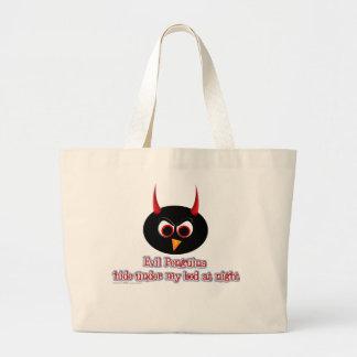 Couro cru mau dos pinguins sob minha sacola da cam bolsa tote grande