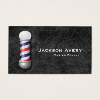 Couro de Pólo do barbeiro da barbearia Cartão De Visitas