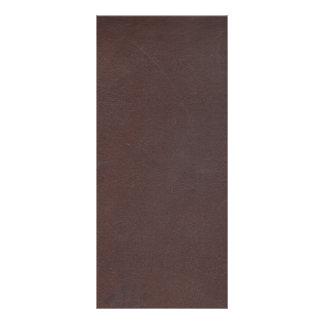 Couro do falso de Brown escuro 10.16 X 22.86cm Panfleto