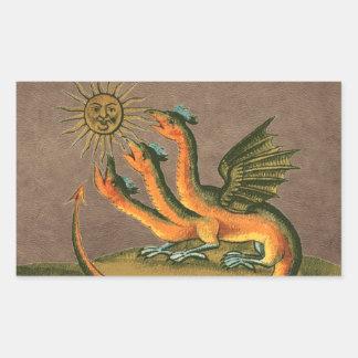 Couro dos dragões da alquimia de Clavis Artis Adesivo Retangular
