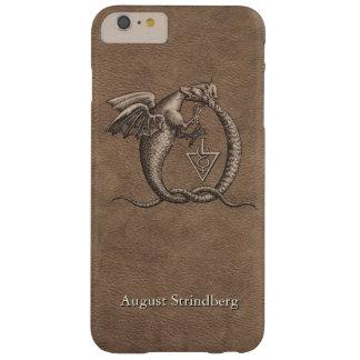 Couro dos dragões de Ouroboros personalizado Capa Barely There Para iPhone 6 Plus
