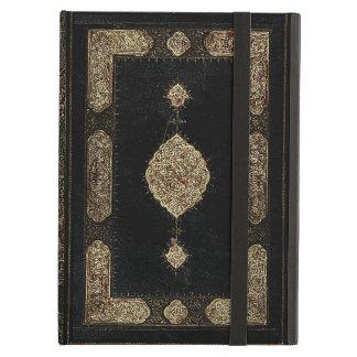 Couro velho e capa do livro fina do ouro do
