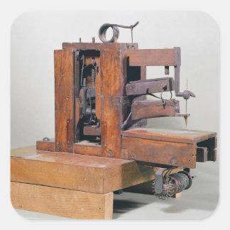 Couseuse', a primeira máquina de costura, 1830 adesivo quadrado