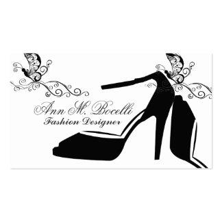Couture moderno do chique da borboleta dos cartão de visita