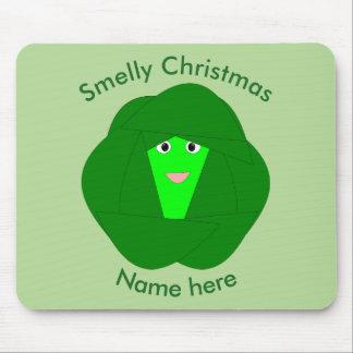 Couve de Bruxelas Smelly Mousepad do Natal