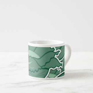 Couve verde Funky Xícara De Espresso