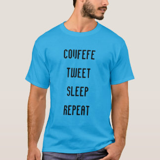 COVFEFE, TWEET, SONO, REPETEM a camisa dos homens