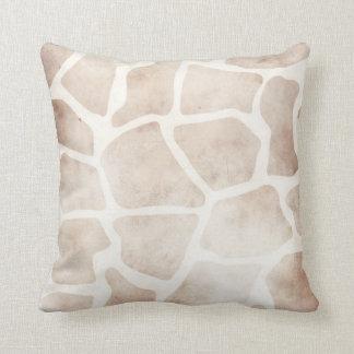 Coxim africano do teste padrão do girafa moderno d travesseiro
