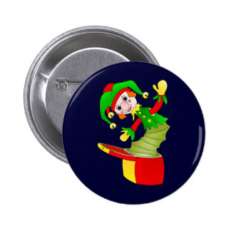 Coxim de Jack in the Box dos desenhos animados Bóton Redondo 5.08cm