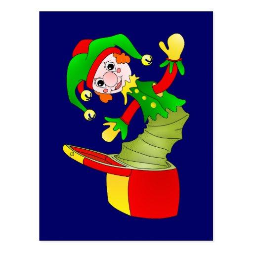 Coxim de Jack in the Box dos desenhos animados Cartão Postal