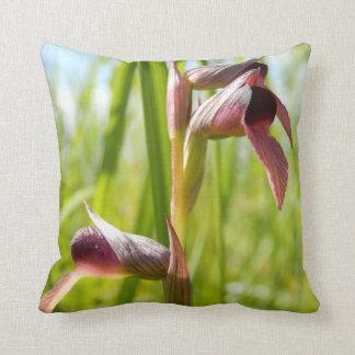 Coxim do lance da orquídea da língua almofada