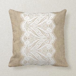 Coxim impresso moderno de serapilheira & de laço travesseiros de decoração
