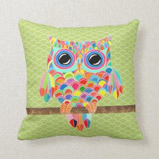 Coxim moderno Funky original da arte da coruja do  Travesseiro
