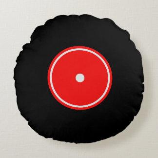 Coxim redondo vermelho retro do registro de vinil almofada redonda