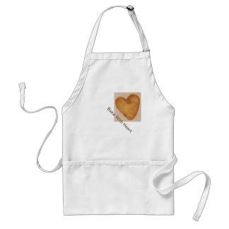 """""""Coza com coração"""" e o avental cozido do coração"""