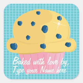 Cozido com amor perto, etiquetas personalizadas