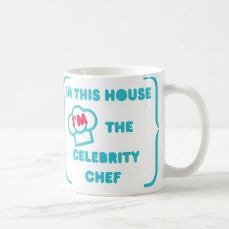 Cozimento como um cozinheiro chefe da celebridade caneca de café