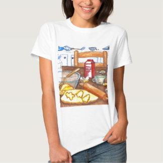 Cozimento feliz do cozinhar da casa da cozinha do camiseta