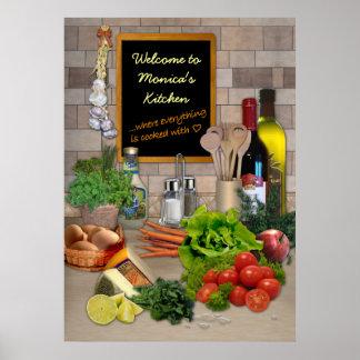 Cozinha customizável posteres