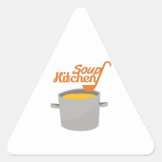 Cozinha de sopa adesivo triangular