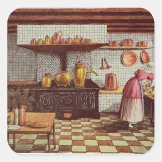 Cozinha do hotel St.Lucas Adesivo Quadrado