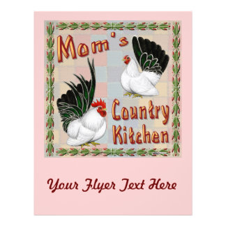 Cozinha do país da mãe flyer 21.59 x 27.94cm