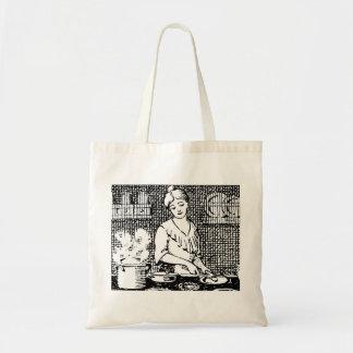 Cozinha do passado bolsa tote