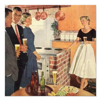 Cozinha do vintage, convite de festas da reunião