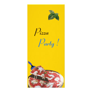 COZINHA ITALIANA do PARTIDO da PIZZA, verde 10.16 X 22.86cm Panfleto