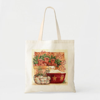 Cozinha Prim do inverno do pão-de-espécie Sacola Tote Budget