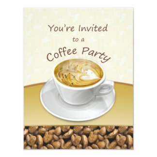 Cozinhando o convite de festas do copo de café do