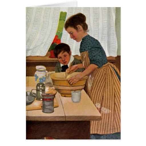Cozinhar do dia das mães com mamã cartão