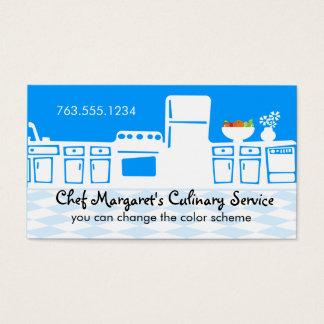 Cozinhar retro da cozinha da cor feita sob cartão de visitas