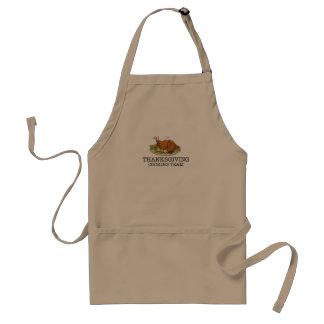 Cozinhar Turquia fritada equipe da acção de graças Aventais