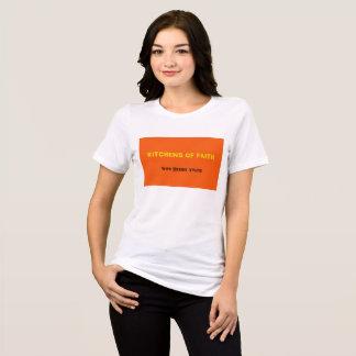 Cozinhas do T do jérsei do logotipo da fé Camiseta