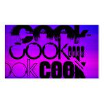 Cozinheiro; Azul violeta e magenta vibrantes Cartão De Visita