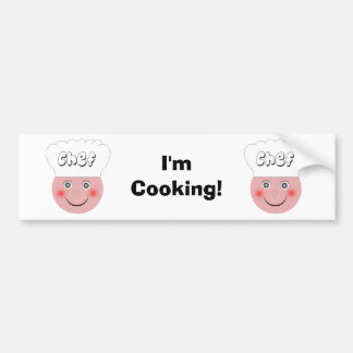 Cozinheiro chefe adesivo para carro