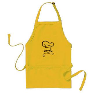 Cozinheiro chefe clássico amarelo do avental com