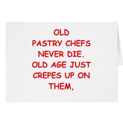cozinheiro chefe de pastelaria cartao