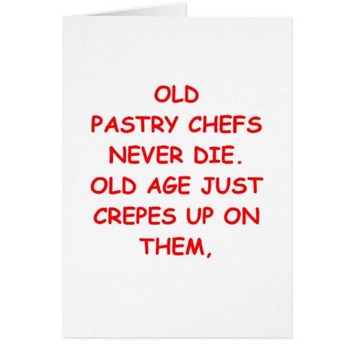cozinheiro chefe de pastelaria cartão