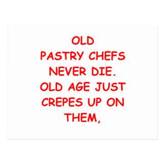 cozinheiro chefe de pastelaria cartoes postais