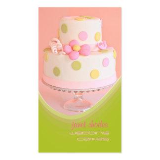 Cozinheiro chefe de pastelaria dos bolos de cartão de visita