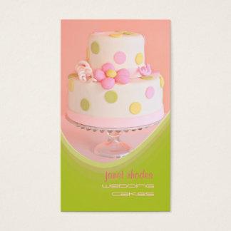 Cozinheiro chefe de pastelaria dos bolos de cartão de visitas