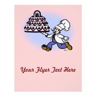 Cozinheiro chefe do bolo panfletos coloridos