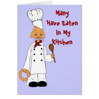 Cozinheiro chefe do gatinho cartão comemorativo