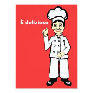 Cozinheiro chefe italiano - delizioso de È Convite 13.97 X 19.05cm